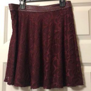 Dresses & Skirts - burgundy colored skirt